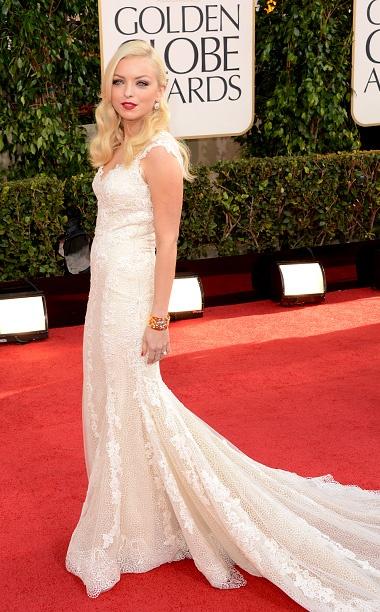 Golden Globe Awards 2013 | Francesca Eastwood in Vintage Giorgio Armani