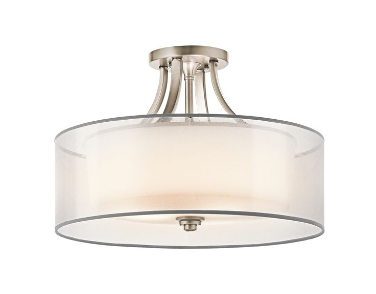 For the foyer? (there are two in the entryway) Lacey 4 Light Semi Flush Ceiling Light - AP