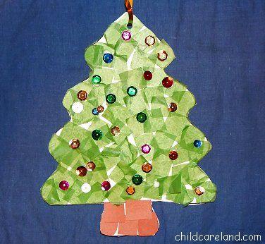 childcareland blog: Tissue Paper Tree