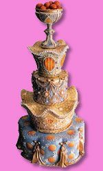 "Margaret Braun makes these exquisite, intricate, ornate cakes...this one is called, ""Cakewalk through Barcelona"".  Click on the link to her website and click on the photos to see the details on the cakes.  You'll be amazed!"