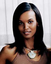 Ethiopian women and Somali women are known for their delicate features and more proportioned features and finer hair.