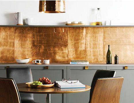 Copper Leaf Glass Tile Kitchen Splashback From The Best Kitchen Splashback Ideas Mykitchenaccessories
