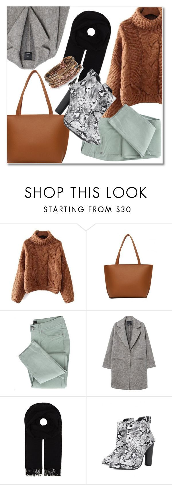 """Sweater weather"" by laurafox27 ❤ liked on Polyvore featuring MANGO, Canada Goose and Stella & Dot"