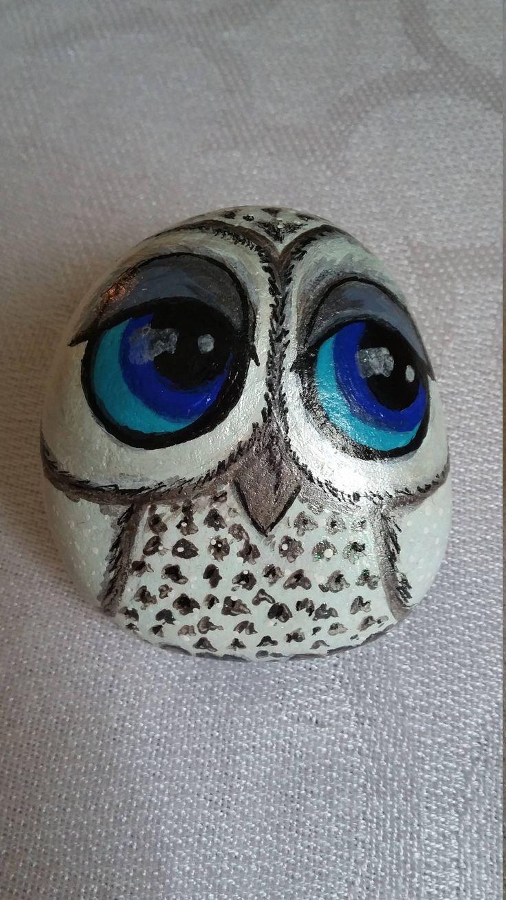 Blue Eyed Owl by PebblesbyElla on Etsy