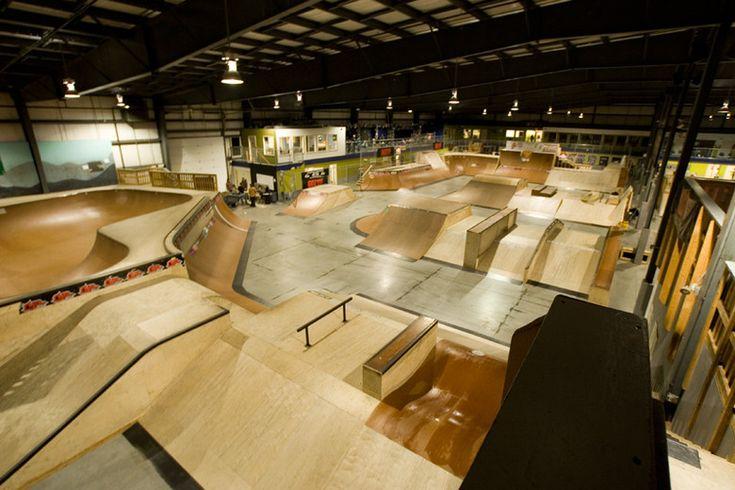 The Rye Airfield indoor skatepark in Rye, NH