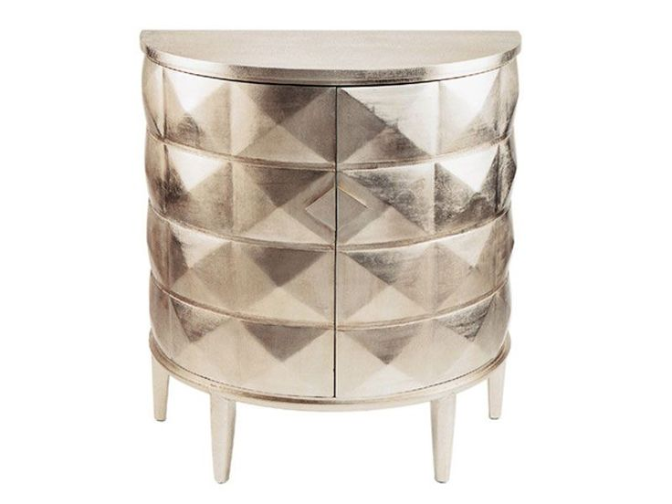 For proof that a small piece can have larger than life impact, you need the Silver 2 drawer round chest.