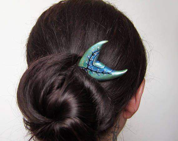 Mermaid Hair Fork hairfork mermaid mermaid tail wood 2
