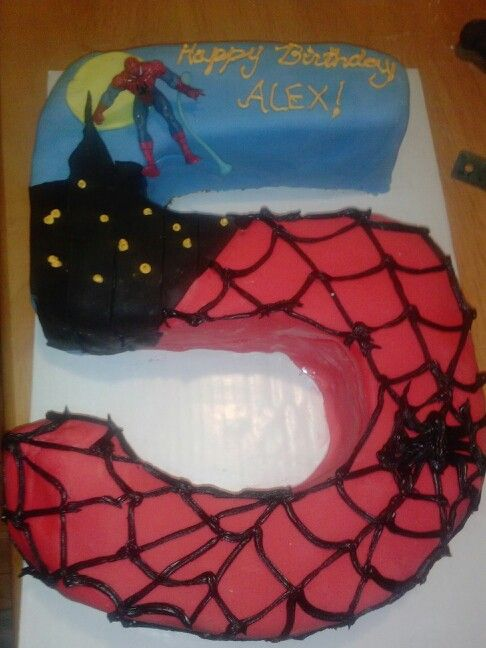 5th Birthday Spiderman Cake Cake Birthday 5th Birthday