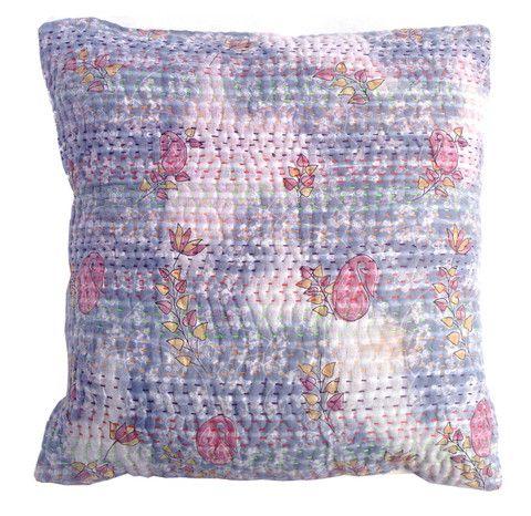 Basha Pastel Kantha Cushion