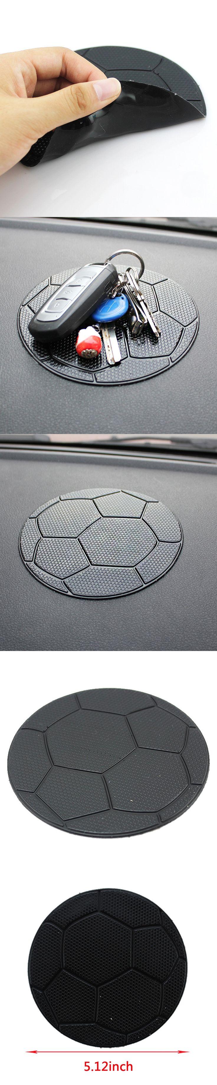 Dewtreetali 1pc Black Interior Car Football Anti-Slip Dashboard Sticky For Pad Non-slip Mat Holder GPS Cell Phone Key Holder