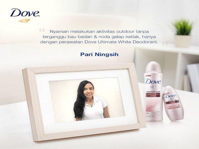 sample gratis dove ultimate white deodorant dari dove indonesia