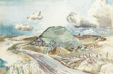 'Silbury Hill' by Paul Nash, 1938