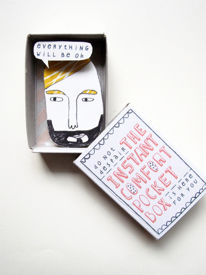 The Instant Comfort Pocket Box - Possible art therapy project - I love the small book idea to keep handy in all settings...