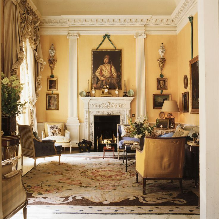 True British Design David And Evangeline Bruces Albany London Living Room In The Late Designed By Colefax Fowler Co Founder John