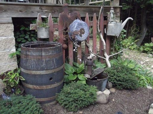Image result for primitive garden decor