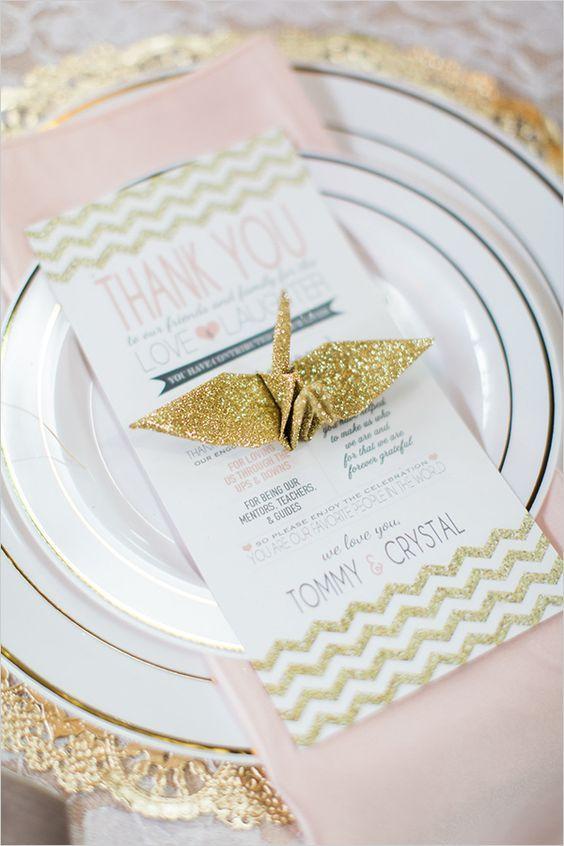 Matrimonio Tema Origami : Progettare un matrimonio a tema origami origami mesas de boda