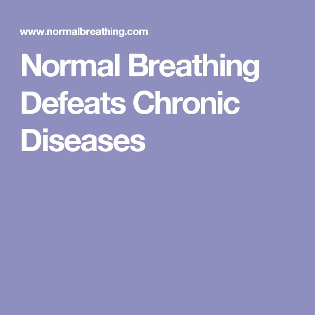 Normal Breathing Defeats Chronic Diseases