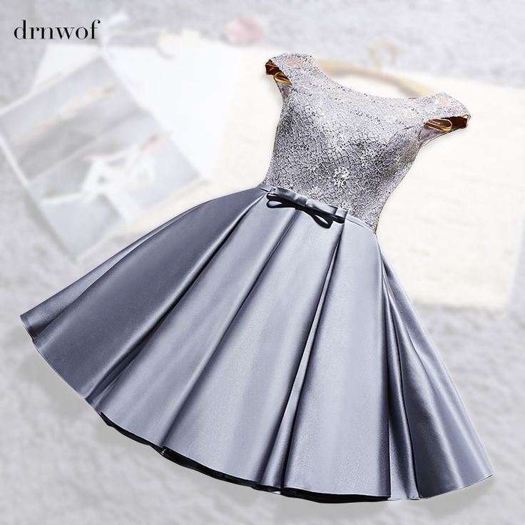 Cheap gowns bridesmaid dresses, Buy Quality ball gown bridesmaid dresses directly from China bridesmaid dresses Suppliers: 2017 New O-neck Lace Satin Short Womens Ball Gown Bridesmaid Dresses Off the Shoulder Double shoulder Wedding Party Prom Dress