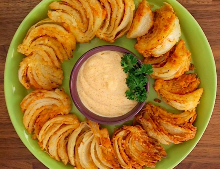 American Times Food |   Blooming Onion Wedges And Dip
