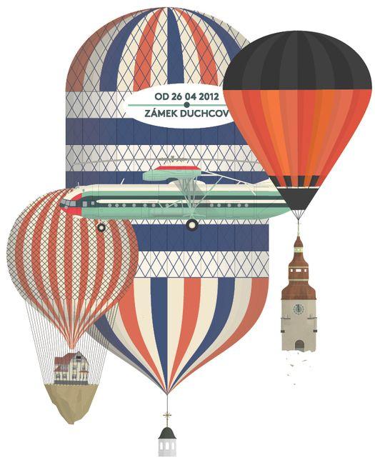 baloons by JAN SRAMEK, illustrator represented by OWL Illustration agency www.owlillustration.com