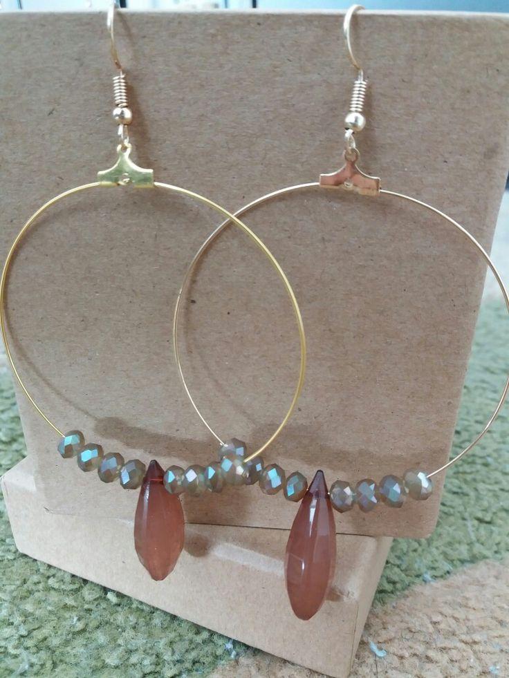 Earrings Crystal &beads