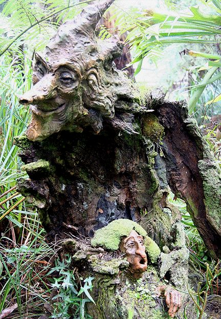 Bruno Torf's fantasy garden sculptures