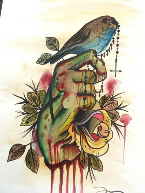 94 best neo traditional tattoo designs and inspiration for Zombie tattoo machine