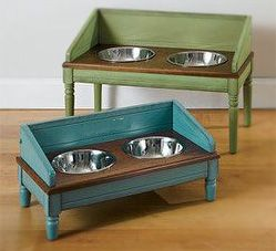 Antique-Barn-Board-Elevated-Dog-Bowl-Stand