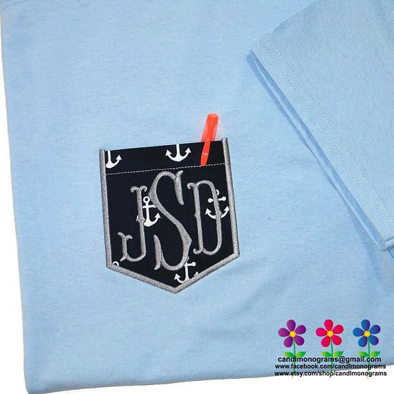 Check out this item in my Etsy shop https://www.etsy.com/listing/524292288/unisex-monogram-pocket-tee-short-sleeve