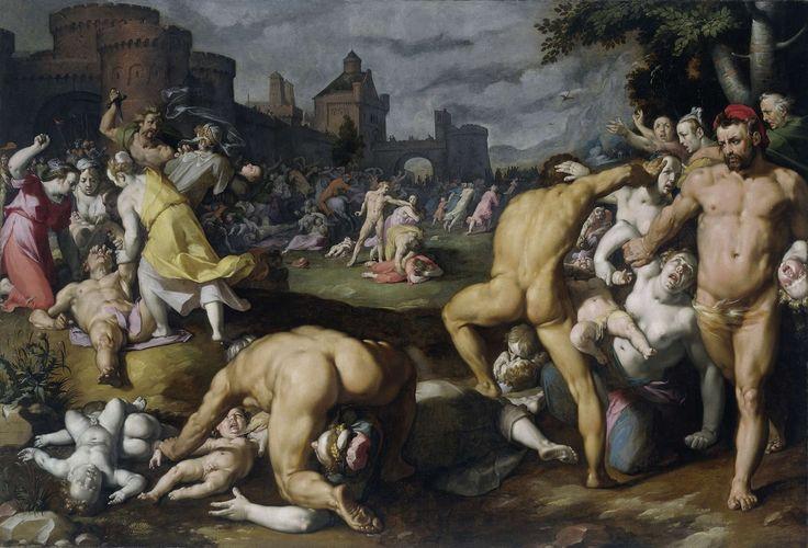 Soorten schilderijen. Bijbels schilderij. De kindermoord in Bethlehem, Cornelis Cornelisz. van Haarlem