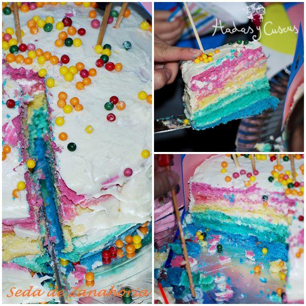 by Hadas Y Cuscus RAINBOW CAKE http://www.hadasycuscus.es