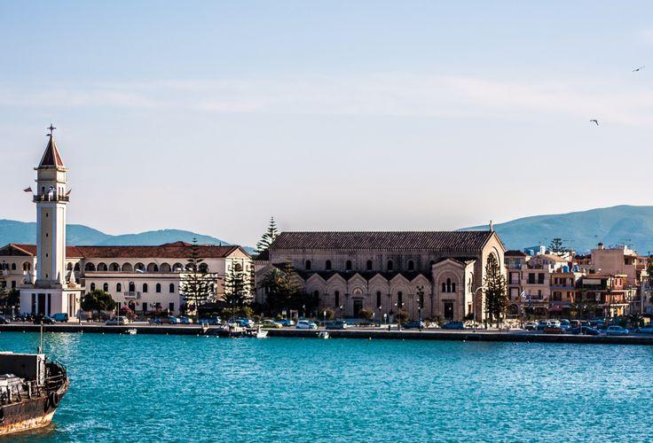 Zante port, Saint Dionysius church.
