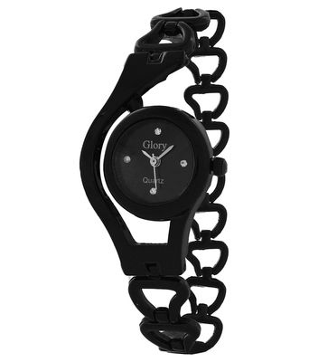 Glory Stylish Black Chain Ladies Wrist Watch
