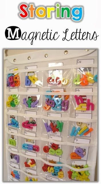 A great way to store your letters!  Magnetic ABC letters for preschool and pre-k