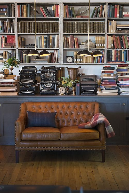 Home library eyecandy (minus the type writers):