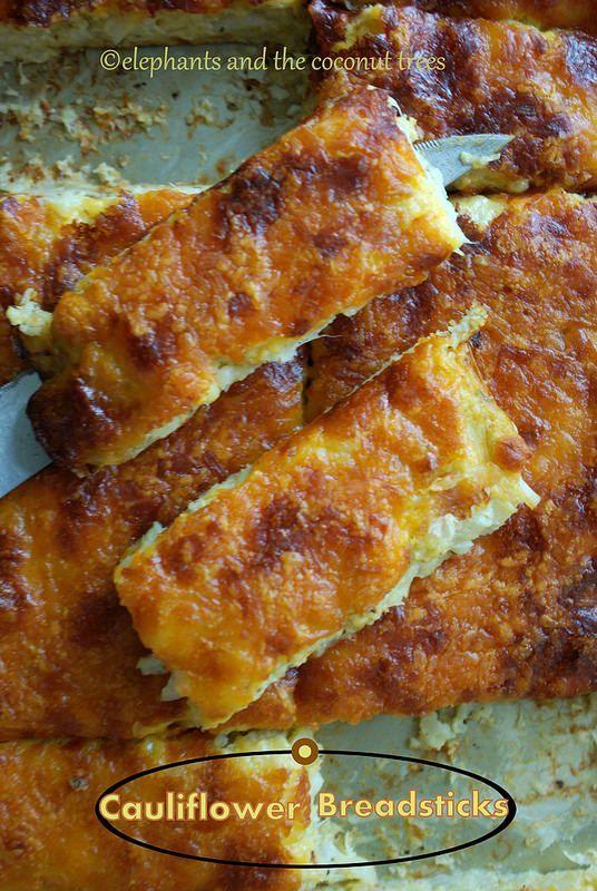 Cauliflower breadsticks (No flour) Unbelievably easy to make and really delicious ! #Fallfest #FoodNetwork #Cauliflower
