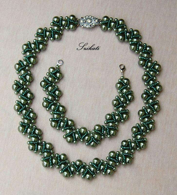 151 best Beaded necklaces tutorials images on Pinterest | Beaded ...