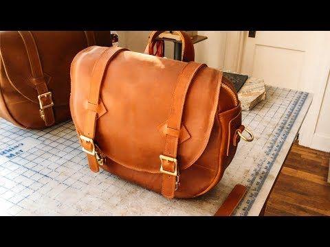 46a7bb1efed How we make our NEW Leather Shoulder Bag - No.64   Wesley Leather Shoulder