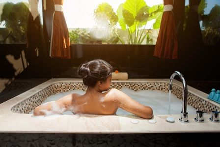 At our Black Sands Spa, we offering two designer couple suites with oversized bath tubs, a single suite, aroma steam.