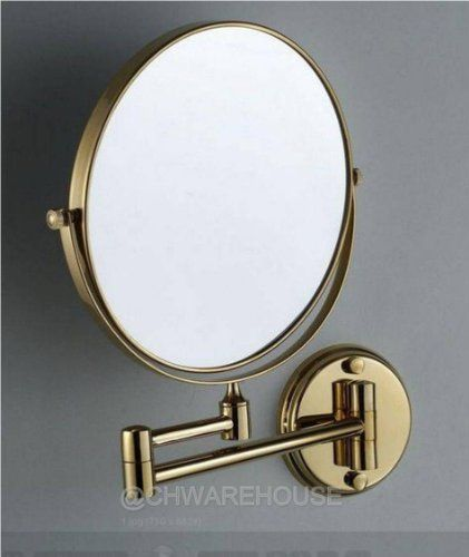 Special Offers - Cheap Gold 8 Magnifying Mirror for Bath Wall Mounted Swing Arm 1 & 7x 2-sided - In stock & Free Shipping. You can save more money! Check It (November 22 2016 at 08:42AM) >> http://bathroomvanitiesusa.net/cheap-gold-8-magnifying-mirror-for-bath-wall-mounted-swing-arm-1-7x-2-sided/