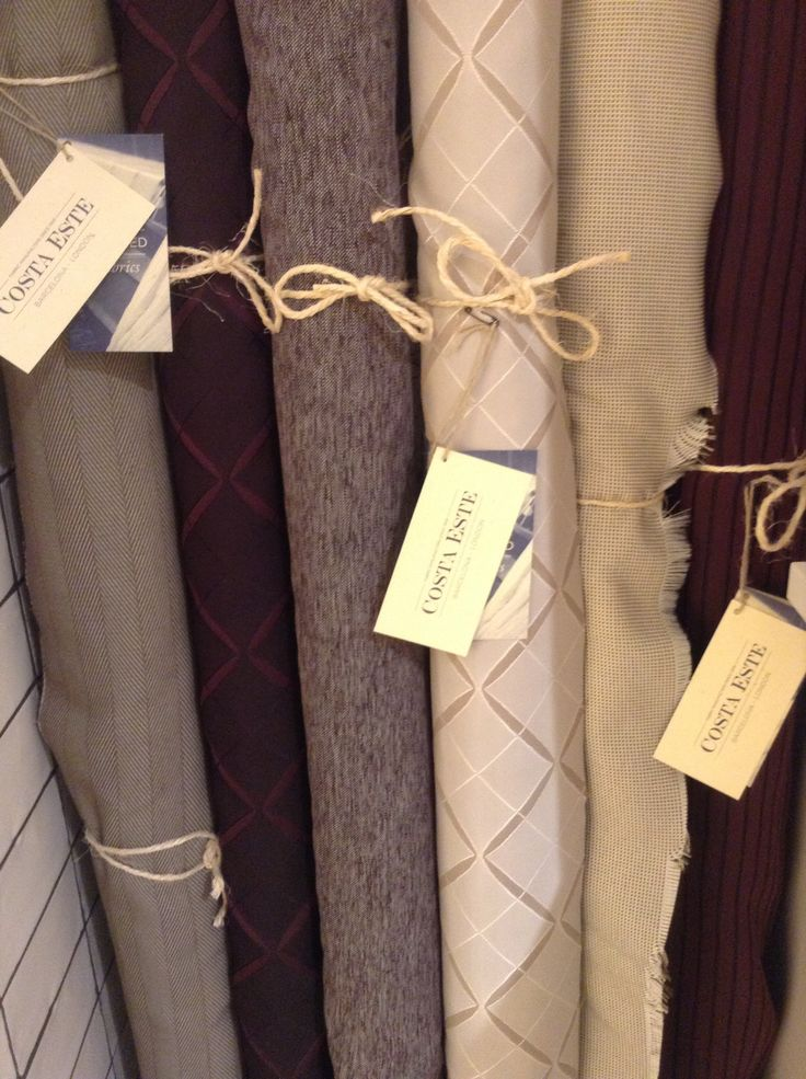Wall upholstering fabrics are now available in store