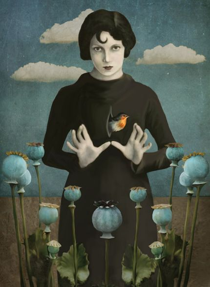 "pearl-nautilus: "" Daria Petrilli - Poppies Lady """