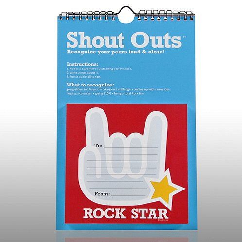 How To Implement Social And Emotional >> You Rock Peer-to-Peer Shout Outs | Coordinator Team Ideas | Employee appreciation gifts ...