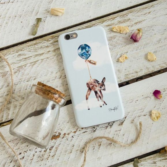 Far, Far Away Fawn iPhone case : by The Dairy