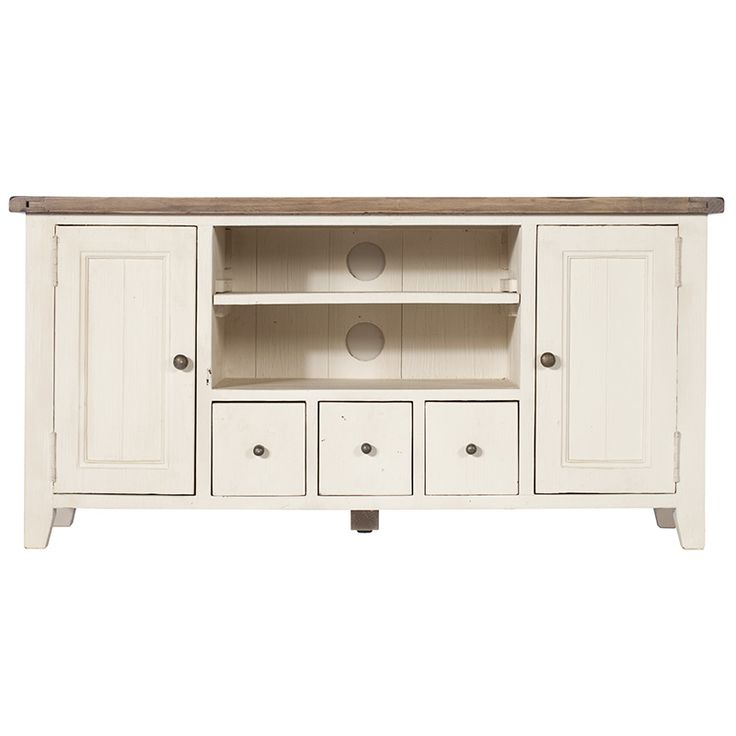 Cotswold low TV cabinet - French-style, hand-painted and oak furniture for living rooms, bedrooms, dining rooms, bathrooms and children's rooms