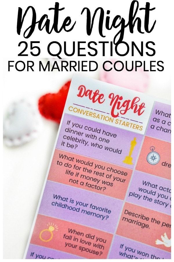 25 Date Night Questions For Married Couples Questions