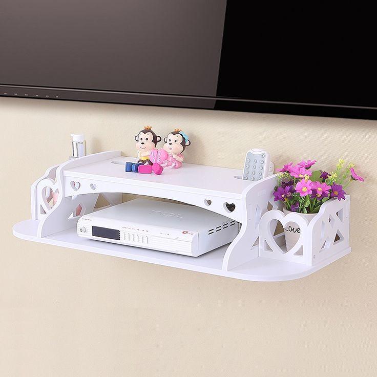 Creativa hogar mueble TV set top box frame Router de almacenamiento estante de Almacenamiento de soporte estante partición Pilones de colgar en La Pared