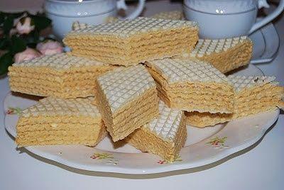 Andruty z masą kajmakową (wafle)