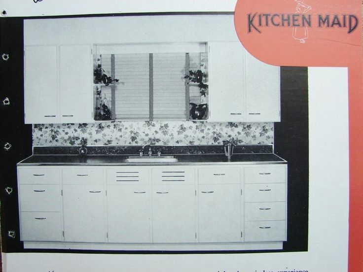 1946 KITCHEN MAID CABINETS Wall Base Sink Utility Over 60K War KITCHENS! Catalog