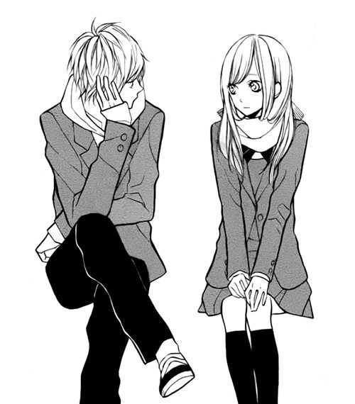 33 best my anime couple images on pinterest anime couples manga cute anime couple sitting together and listing to her sweet love romantic relationships altavistaventures Choice Image